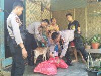 Polisi Enrekang Berikan Bantuan 2 Ekor Kambing untuk Warga Kurang Mampu